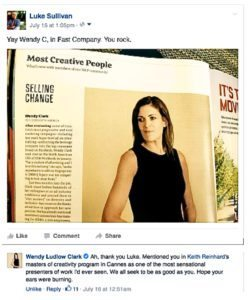 Wendy in Fast Company